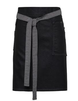 Premier Workwear Division Waxed Look Denim Waist Apron Black Denim