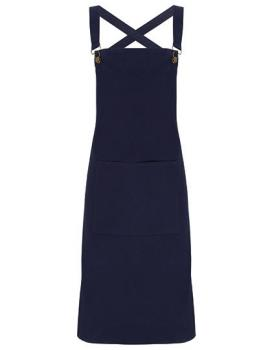 Cross Back Barista Bib Apron Navy