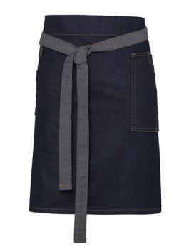 Premier Workwear Division Waxed Look Denim Waist Apron Indigo Denim