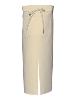 Natural Bistro Apron with Split and Front Pocket
