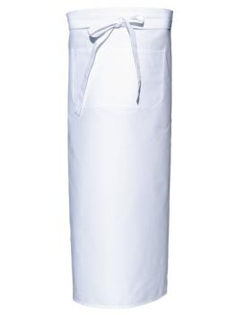 White Bistro Apron XL with Front Pocket