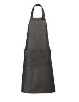 Long Apron Gala Schürze - Dark Grey (Solid)