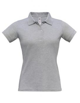 Safran Poloshirt Frauen Heather Grey
