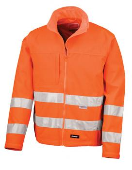 Result High-Viz Soft Shell Jacket Orange