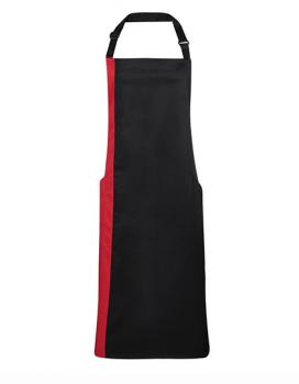 Premier Workwear Contrast Bib Apron Black/Red