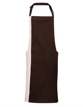 Premier Workwear Contrast Bib Apron brown/natural