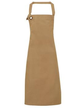 Premier Workwear Calibre Heavy Cotton Canvas Bib Apron Khaki