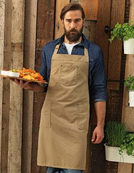 Premier Workwear Cotton Chino Bib Apron