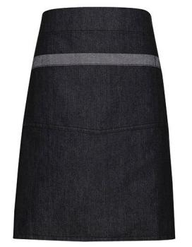 Premier Workwear Domain Contrast Denim Waist Apron Black Denim