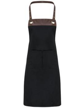 Premier Workwear Espresso Bib Apron Black/Brown
