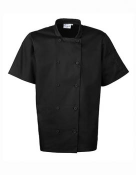 Essential Short Sleeve Chef´s Jacket Black