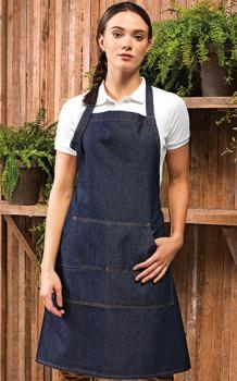 Premier Workwear Jeans Stitch Denim Bib Apron