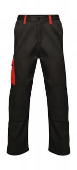 Regatta Strategic Softshell Trousers Black Red