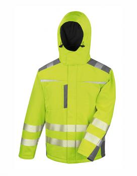 Result Dynamic Softshell Coat Fluorescent  Yellow