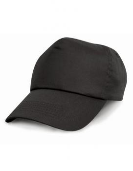 Result Headwear - Junior Cotton Cap - Black