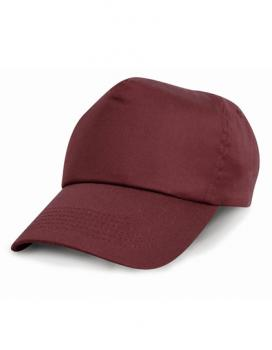 Result Headwear - Junior Cotton Cap - Burgundy