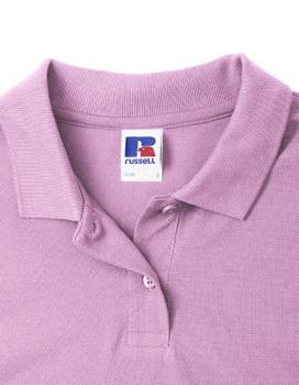 Russell Ladies Classic Cotton Polo Detail Kragen