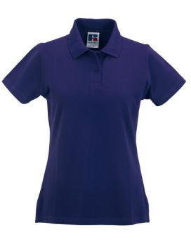 Russell Ladies Classic Cotton Polo Purple