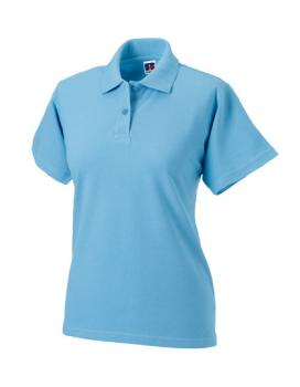 Russell Ladies Classic Cotton Polo Sky Blue
