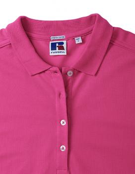 Russell Ladies Stretch Polo Detail2