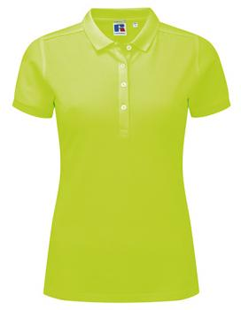 Russell Ladies Stretch Polo Lime