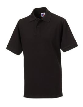 Russell Mens Classic Cotton Polo Black