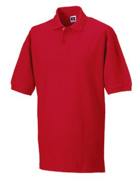 Russell Mens Classic Cotton Polo Red