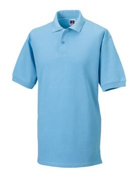 Russell Mens Classic Cotton Polo Sky Blue