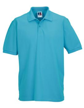 Russell Mens Classic Cotton Polo Turquoise