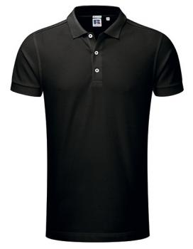 Russell Mens Stretch Polo Black
