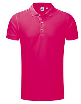 Russell Mens Stretch Polo Fuchsia