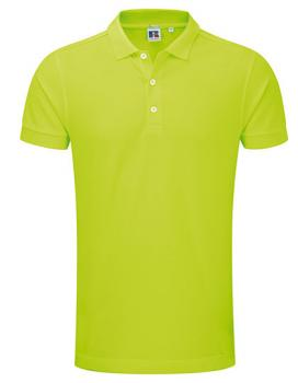 Russell Mens Stretch Polo Lime