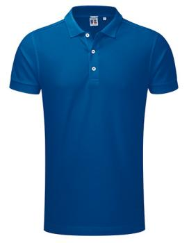 Russell Mens Stretch Polo Royal Blue