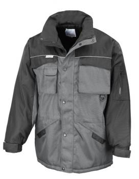 Result WORK-GUARD - Workguard Heavy Duty Combo Coat Grey Black