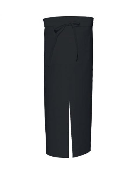 Black Bistro Apron with Split and Front Pocket