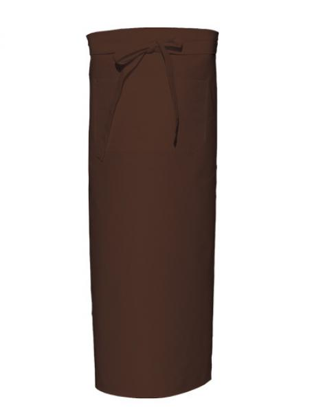 Bistro Apron with Front Pocket Brown
