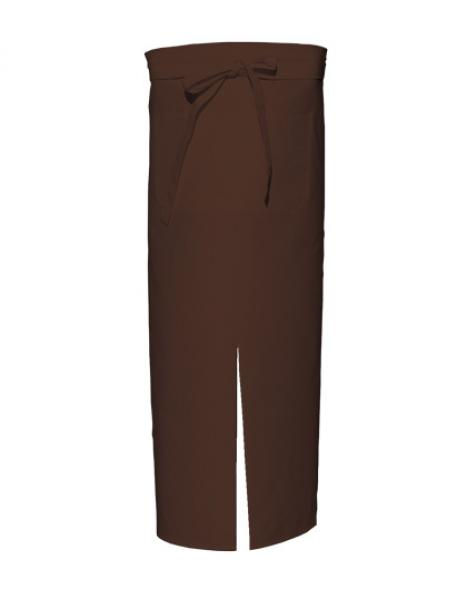 Brown Bistro Apron with Split and Front Pocket