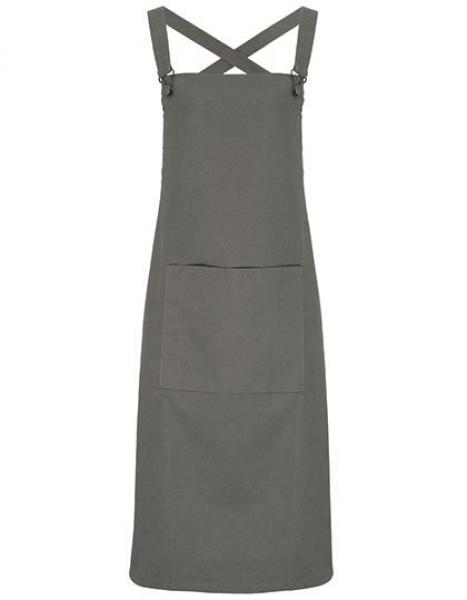 Cross Back Barista Bib Apron Dark Grey