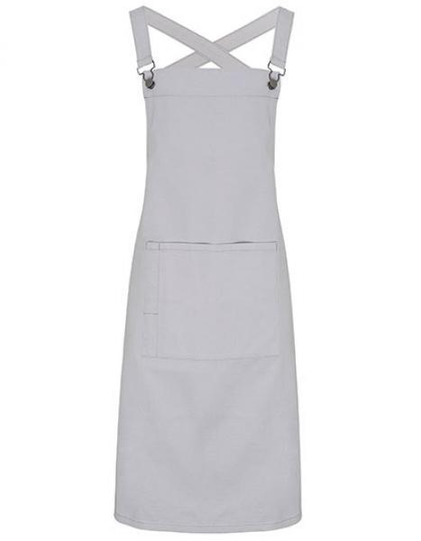 Cross Back Barista Bib Apron Silver