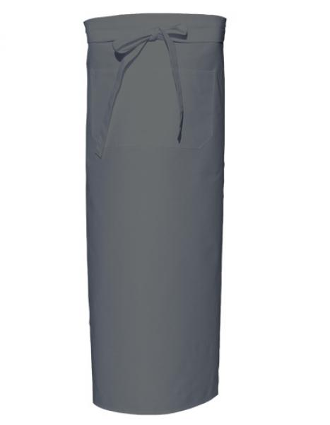 Bistro Apron with Front Pocket Grey