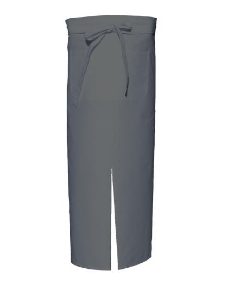 Grey Bistro Apron with Split and Front Pocket