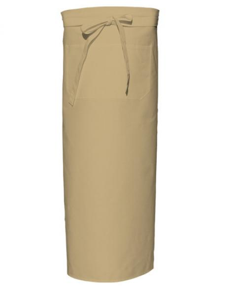Khaki Bistro Apron XL with Front Pocket