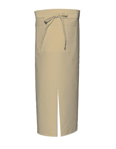Khaki Bistro Apron with Split and Front Pocket