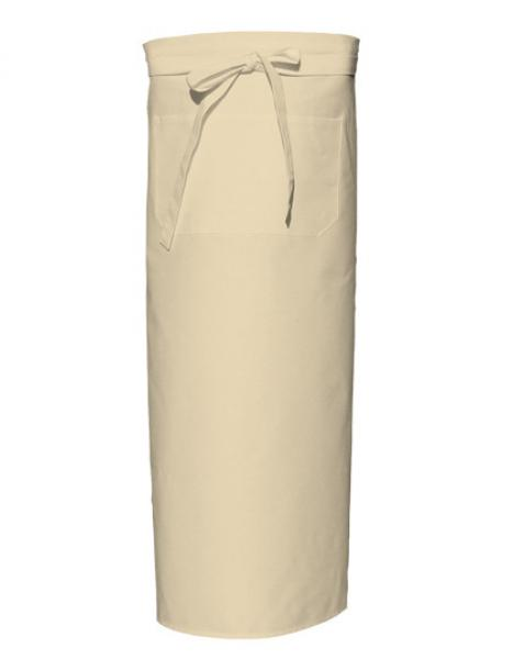 Natural Bistro Apron XL with Front Pocket