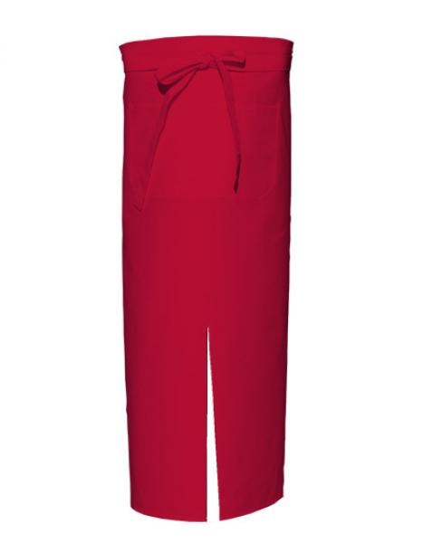 Red Bistro Apron with Split and Front Pocket
