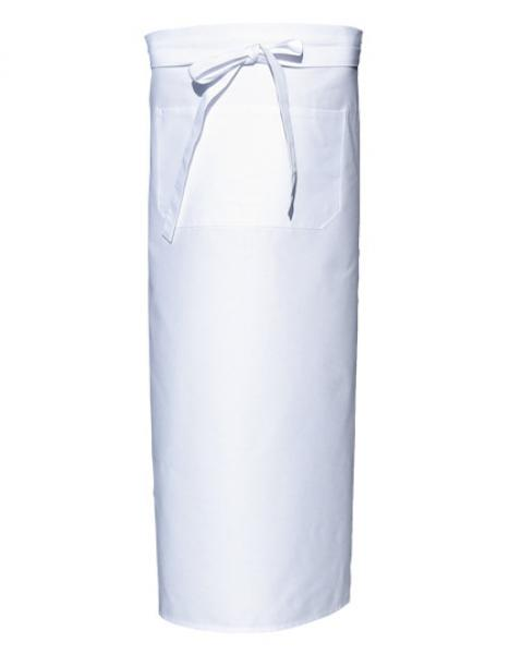 Bistro Apron with Front Pocket White