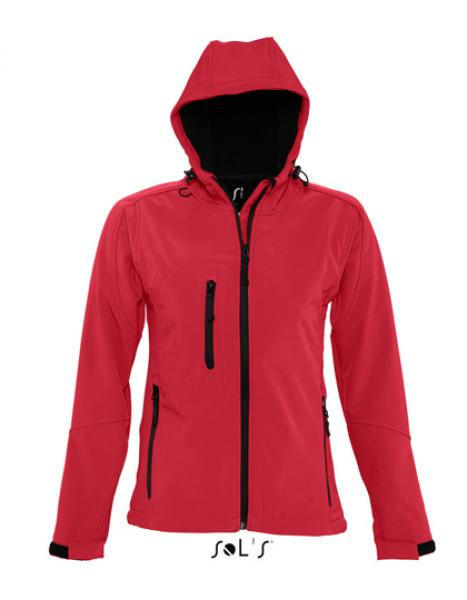 Womens Hooded Softshell Jacket Replay rot