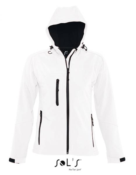 Womens Hooded Softshell Jacket Replay weiß