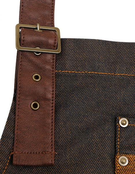 A_Division-Waxed-Look-Denim-Bib-Apron-With-Faux-Leather - Riehmen
