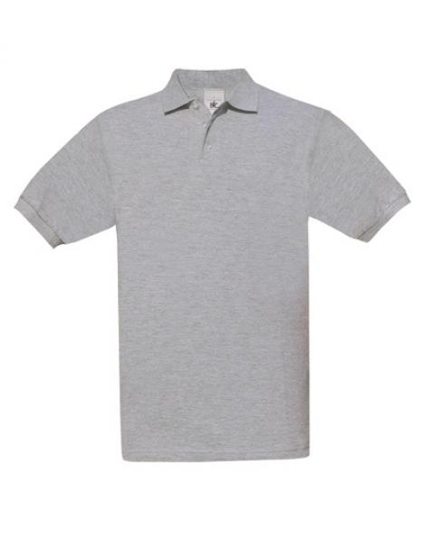 B&C Safran Poloshirt Herren Heather Grey